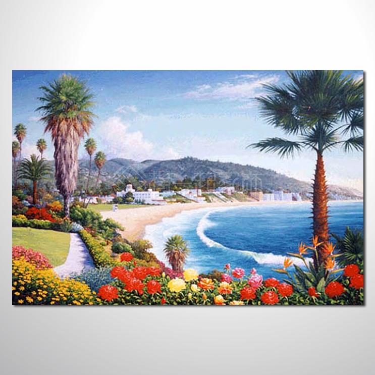 风景 油画 蓝天白云 漫活悠闲 艺术品 插画 无框画 浮雕立体3d画 精品