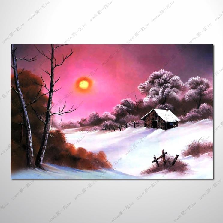 四季原野山林29 风景 油画 装饰品 山水画 艺术品 插画 无框画 森林之