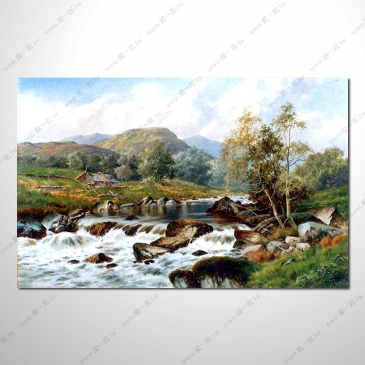 欧式风景40 油画 装饰品 山.