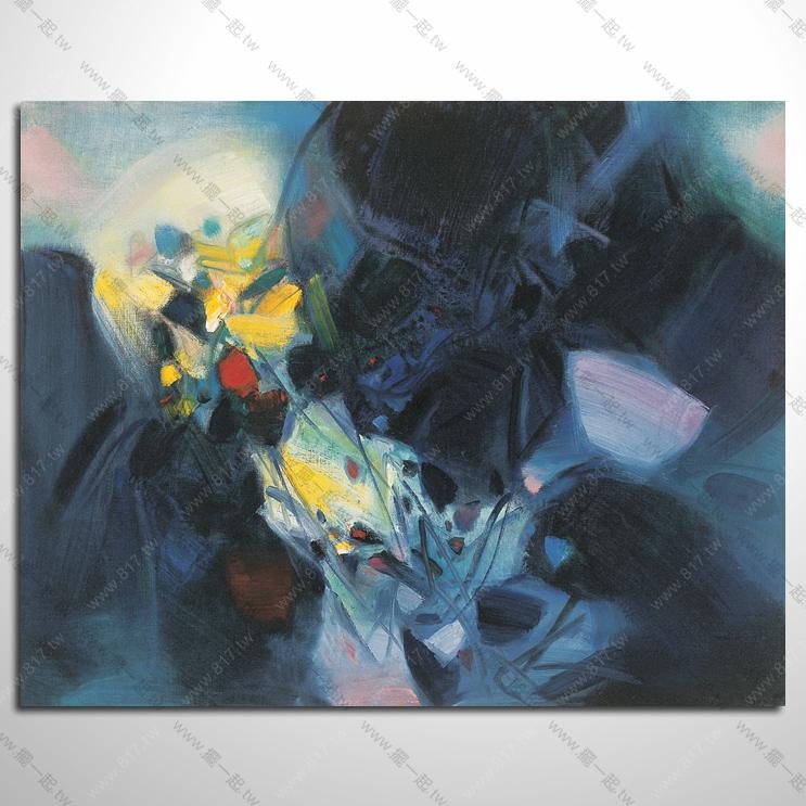 抽象画-手绘装饰抽象油画 no.