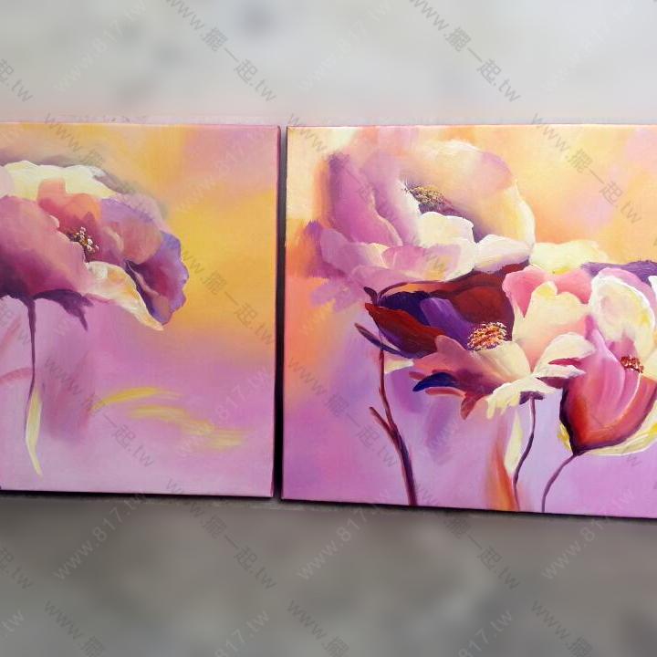 粉色系手绘壁纸