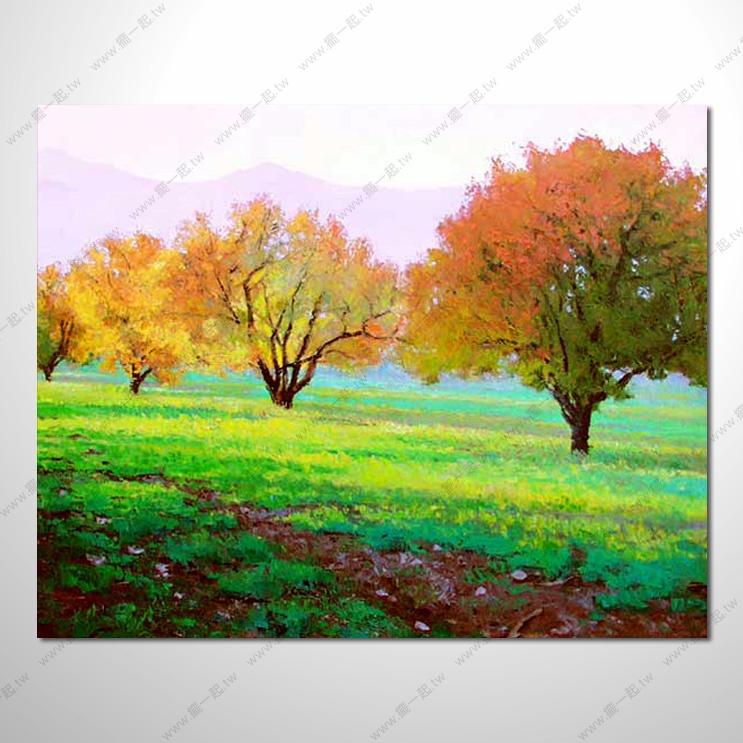 风景油画纯手绘山水 手绘简单山水铅笔画 手绘抽象风景装饰画