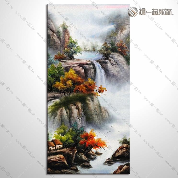山水画-八方聚财风水油画 1zrhoi025 纯手绘油画 元宝