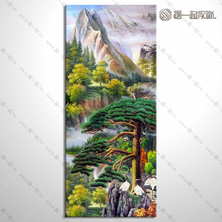 山水画-八方聚财风水油画 1zrhoi029 纯手绘油画 元宝