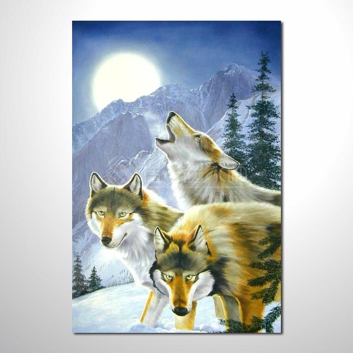 动物王国 狼06 油画 装饰品 山水画 艺术品 插画 无框画 浮雕立体3d画