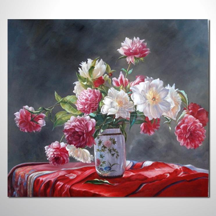 欧式古典花卉61 纯手绘 花卉油画 山水画品 艺术品 作品 画饰 无框画