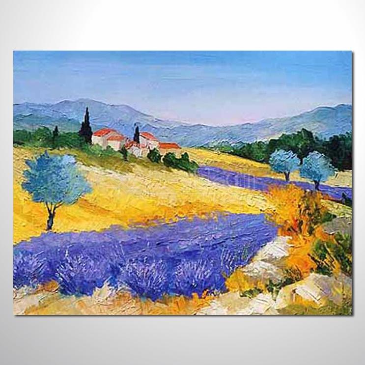 欧式古典风景油画美式乡村风景油画山水风景油画