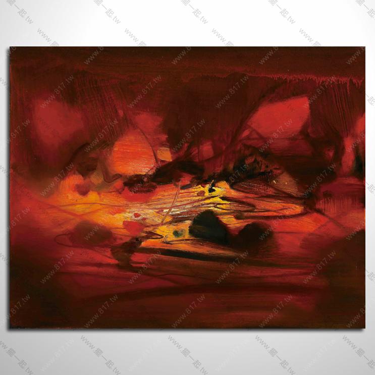 抽象画-手绘装饰抽象油画 no.094 抽象艺术大师参考图